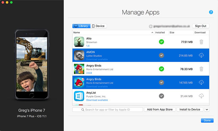 Imazing App Management