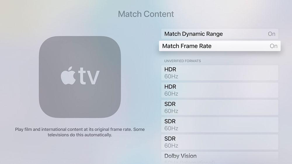 Match Framerate