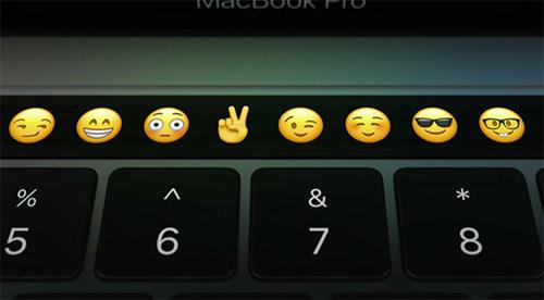 Touch Bar Emoji Auswahl