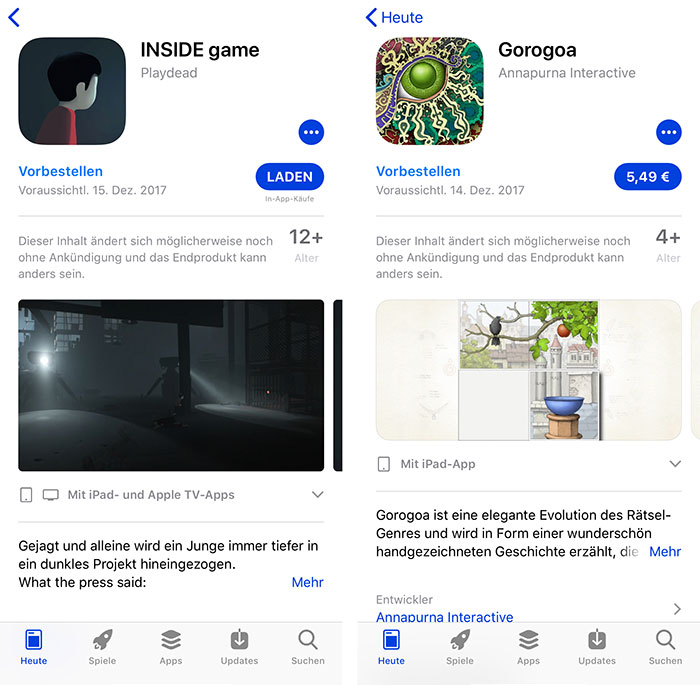 App Store Spiele Vorbestellen