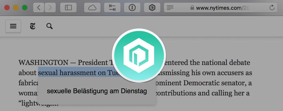 Übersetze Webseiten-Safari