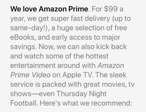 Prime Video App Apple Tv Werbung