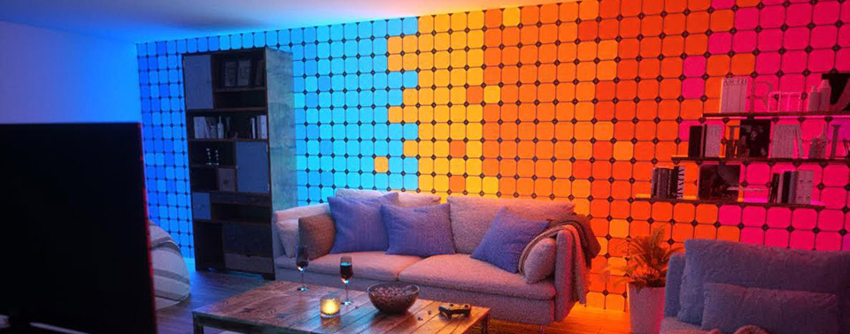 nanoleaf pixel mit homekit kompatible led leucht panele. Black Bedroom Furniture Sets. Home Design Ideas