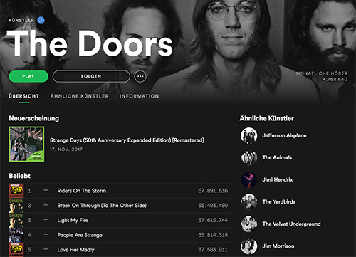 Spotify Doors