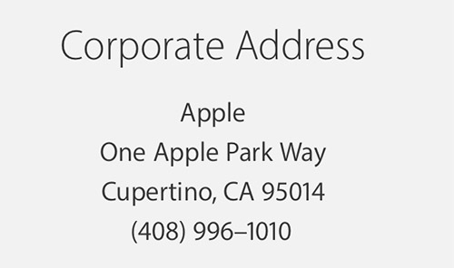 Apple One Apple Park Way Cupertino