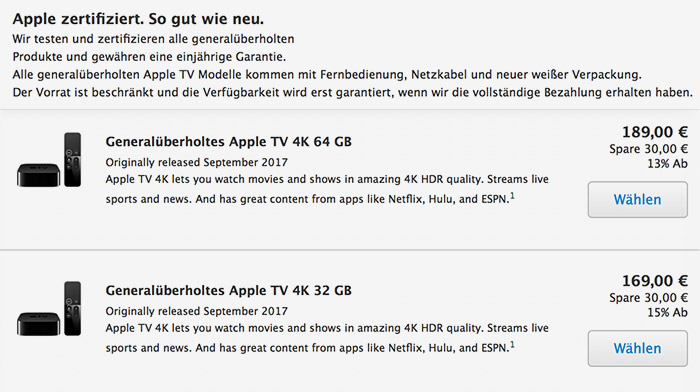 Apple Tv Refurb Store