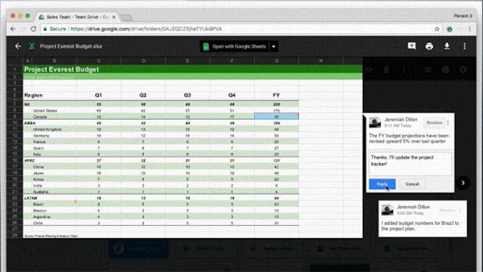 Google Drive Excel Kommentieren