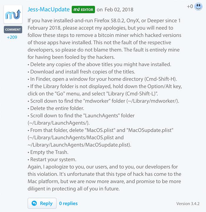 Macupdate Malware