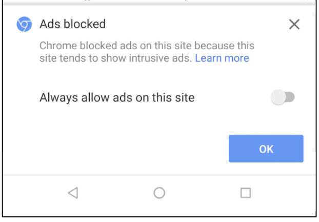 Werbung Geblockt
