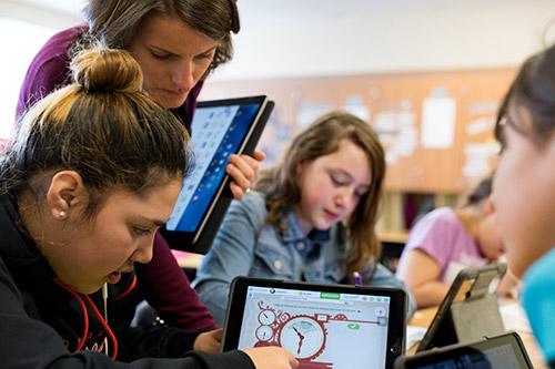 Apple Bildung Klassenzimmer