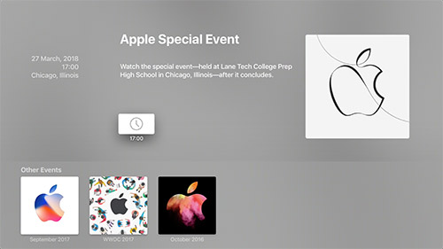 Apple Special Event 27 Maerz 2018
