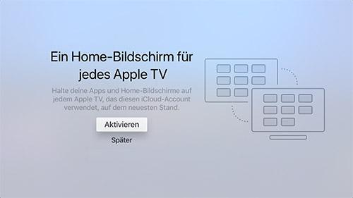 Apple Tv Home Bildschirm Synchronisierung