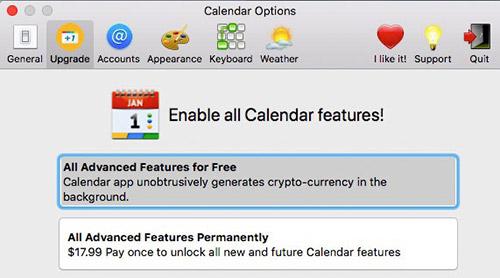 Calendar 2 App Krypto Mining