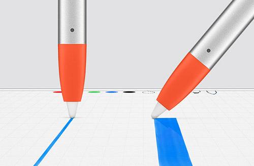 Logitech Crayon Strichstaerke