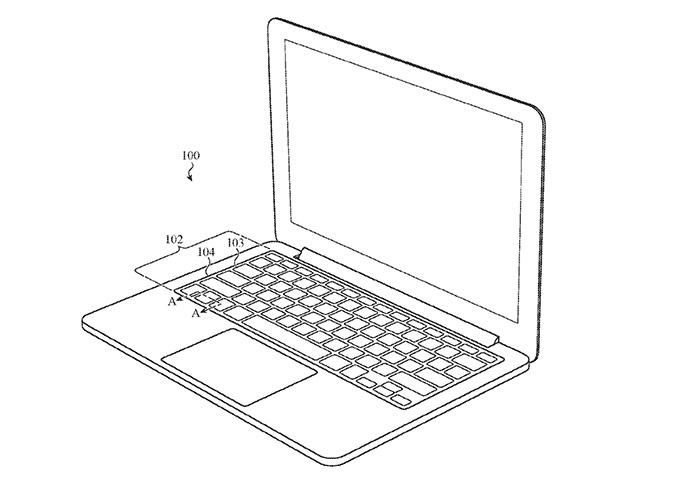 Macbook Tastatur Patent