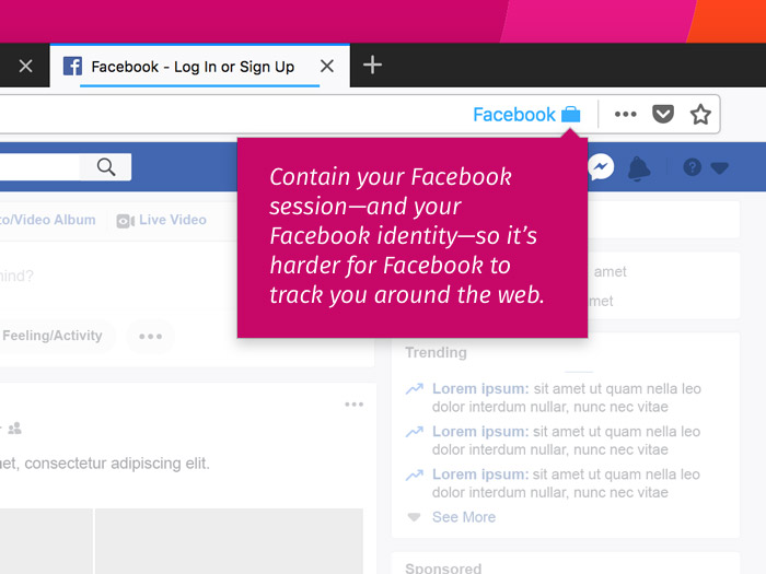 Mozilla Facebook Container