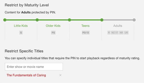 Netflix Kindersicherung Pin