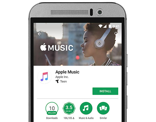 Android Google Play Store Apple Music App Version2 2 0