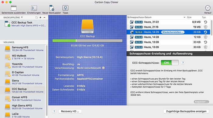 Carbon Copy Cloner 5 1 Screenshot