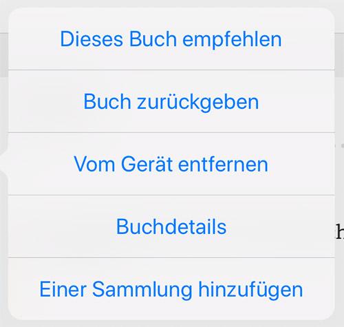 Kindle App Buch Rueckgabe