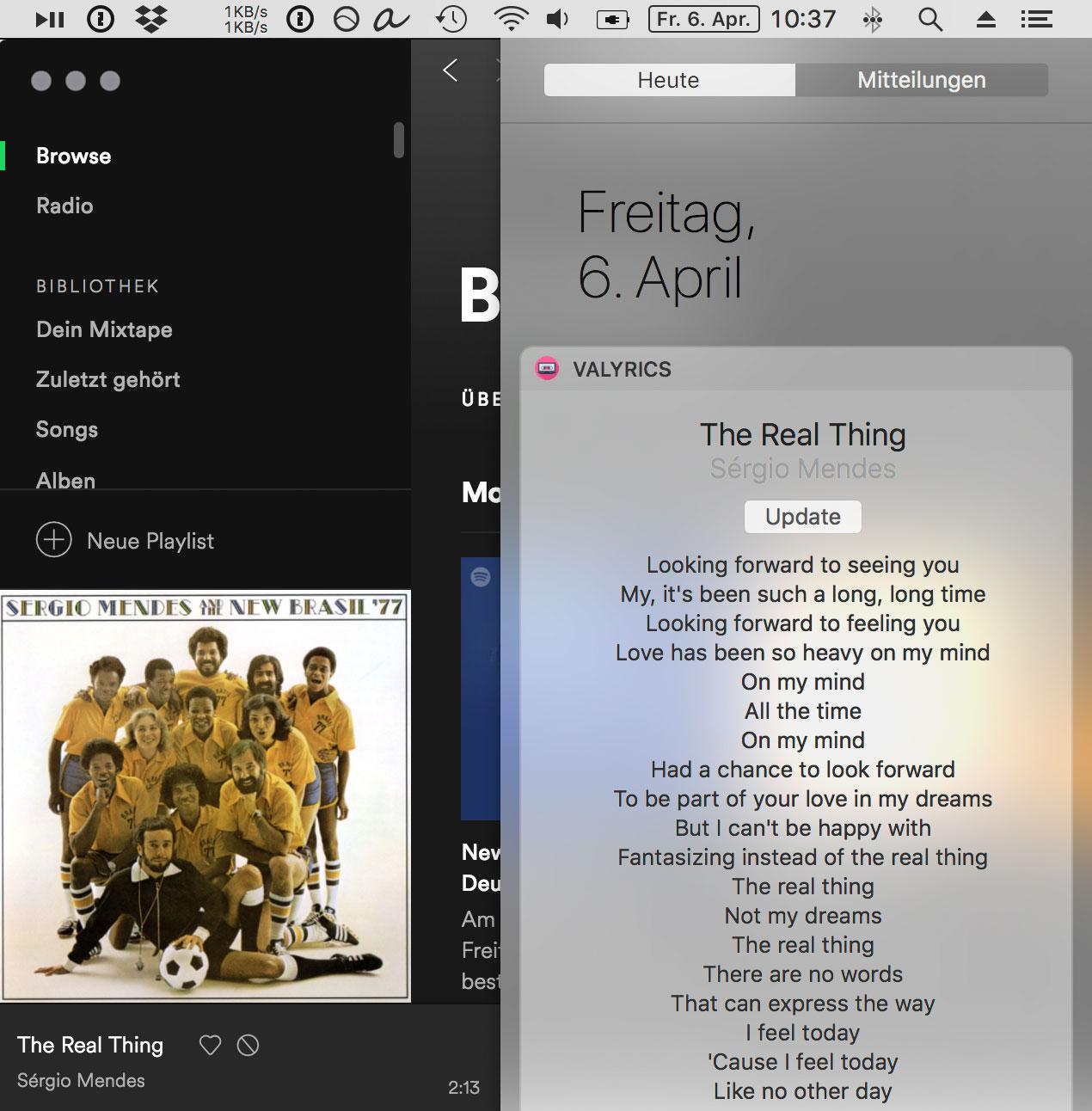 Valyrics: Mac-Widget zeigt Liedtexte für Spotify und iTunes › ifun de