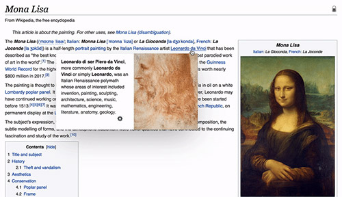 Wikipedia Page Preview