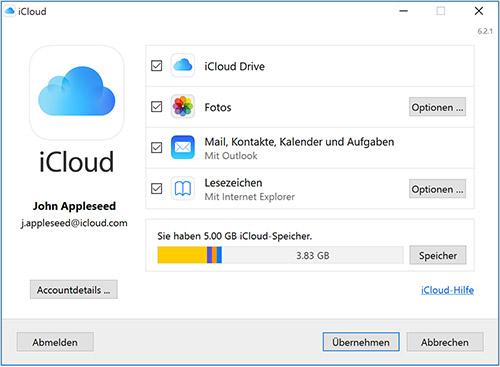 Win10 Icloud For Windows 6 2 1 Einstellungen
