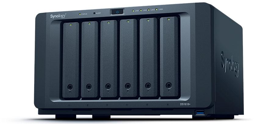 netzwerkspeicher synology lanciert diskstation ds1618. Black Bedroom Furniture Sets. Home Design Ideas