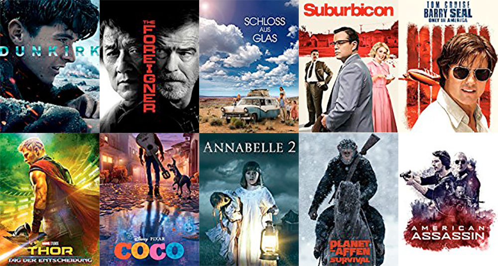 Amazon Filmeabend: Nur heute 10 Leihfilme für je 99 Cent