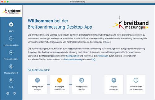 Breitbandmessung App