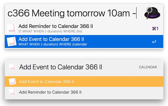 Calendar 366 Alfred Launchbar