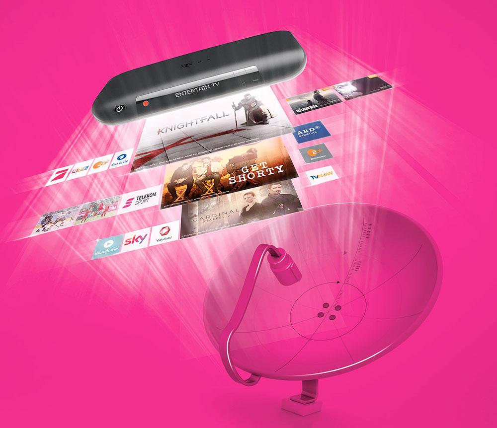EntertainTV der Deutschen Telekom nun auch für Sat-Kunden