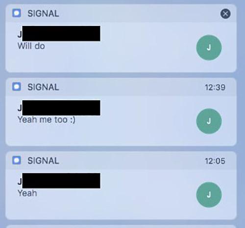 Signal Mitteilungszentrale