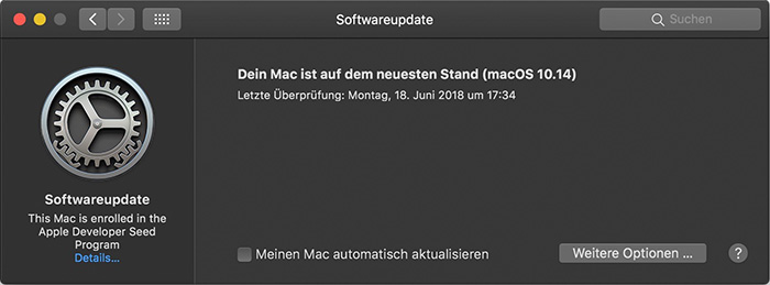 Mojave Software Update