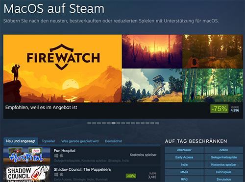 Steam Mac Spiele