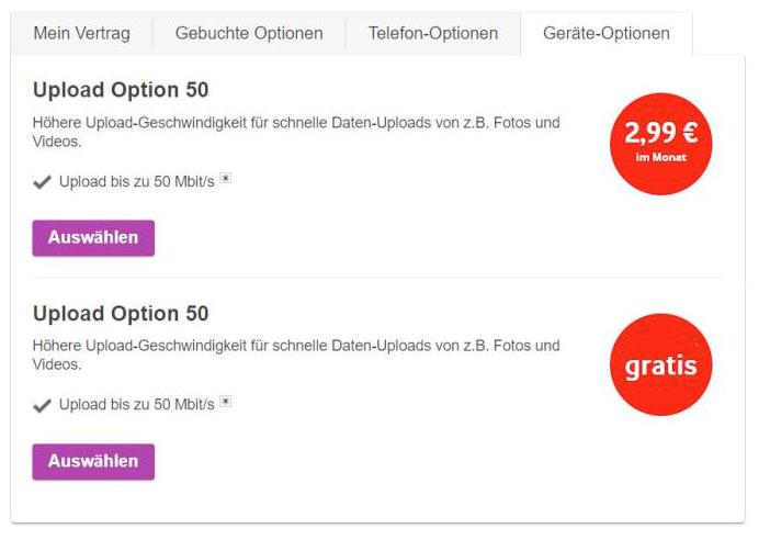 Vodafone Kabel: Upload-Erweiterung auf 50 Mbit/s kostenlos