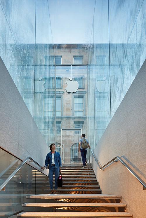 Apple Piazza Liberty Treppe