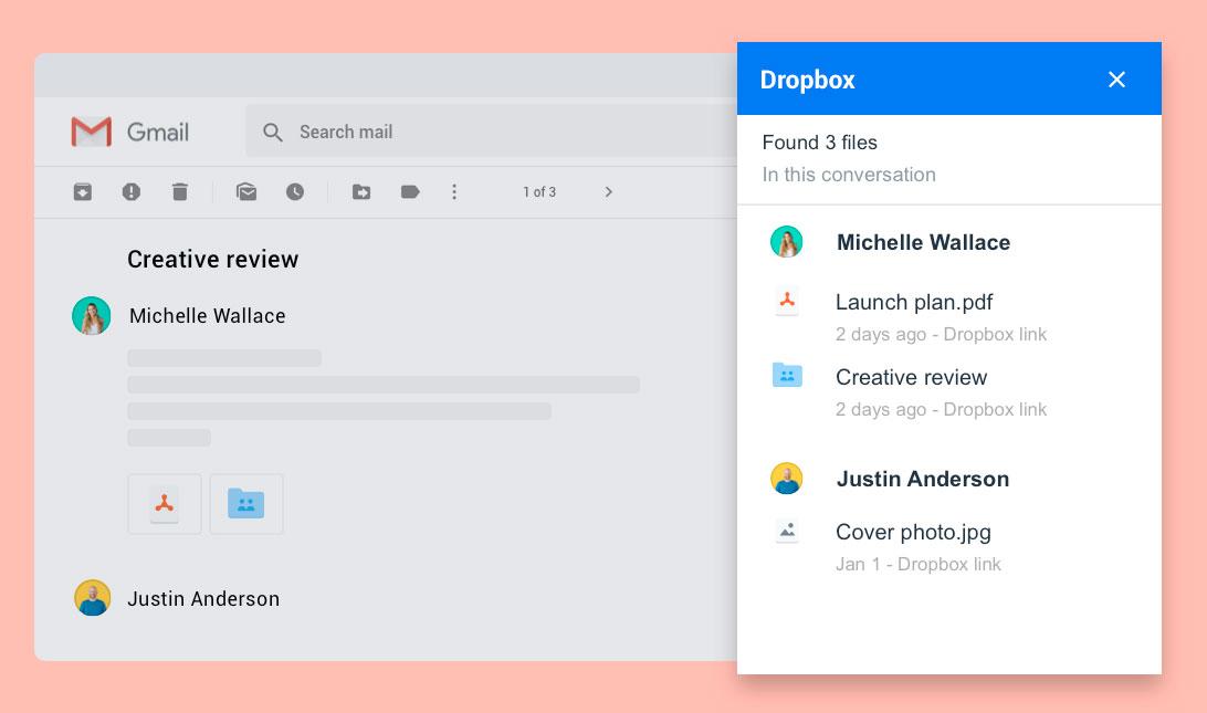 Dropbox Gmail 10000