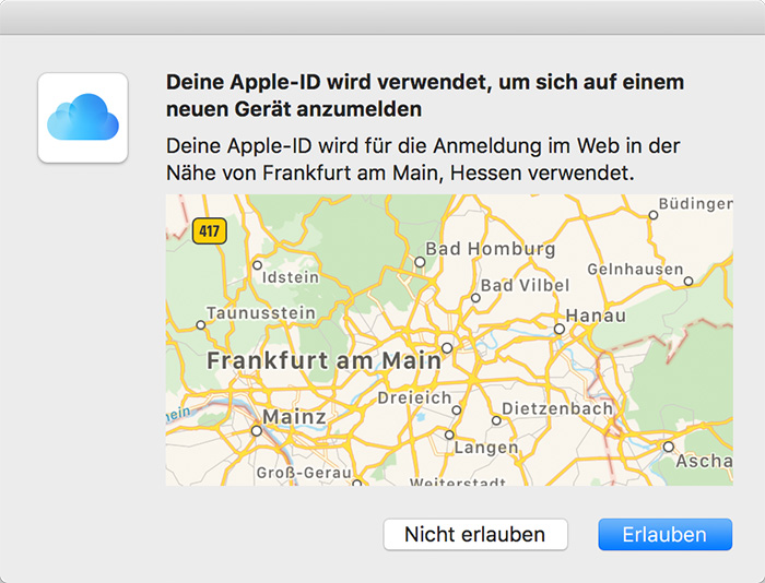 Apple Zwei Faktor Authentifizierung
