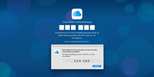 Apple Zwei Faktor Code