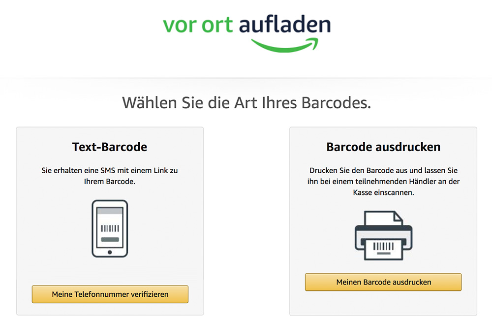 amazon konto aufladen 100 euro
