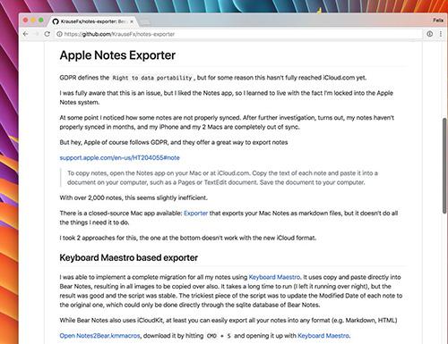 Notes Exporter Felix Krause