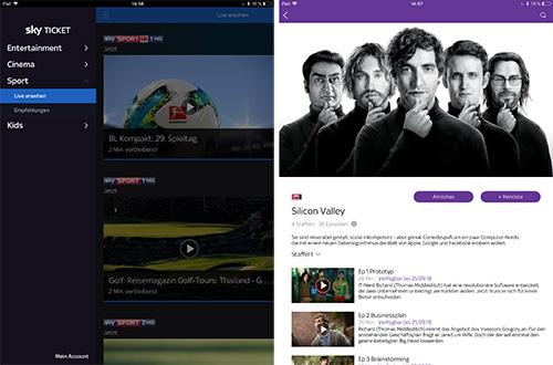 Sky Ticket Neue Ipad App