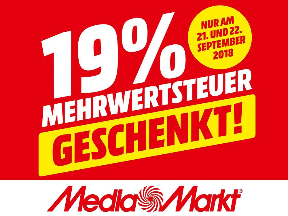 Saturn-Mega-Aktion: 19% Mehrwertsteuer geschenkt! (bis 22. September)