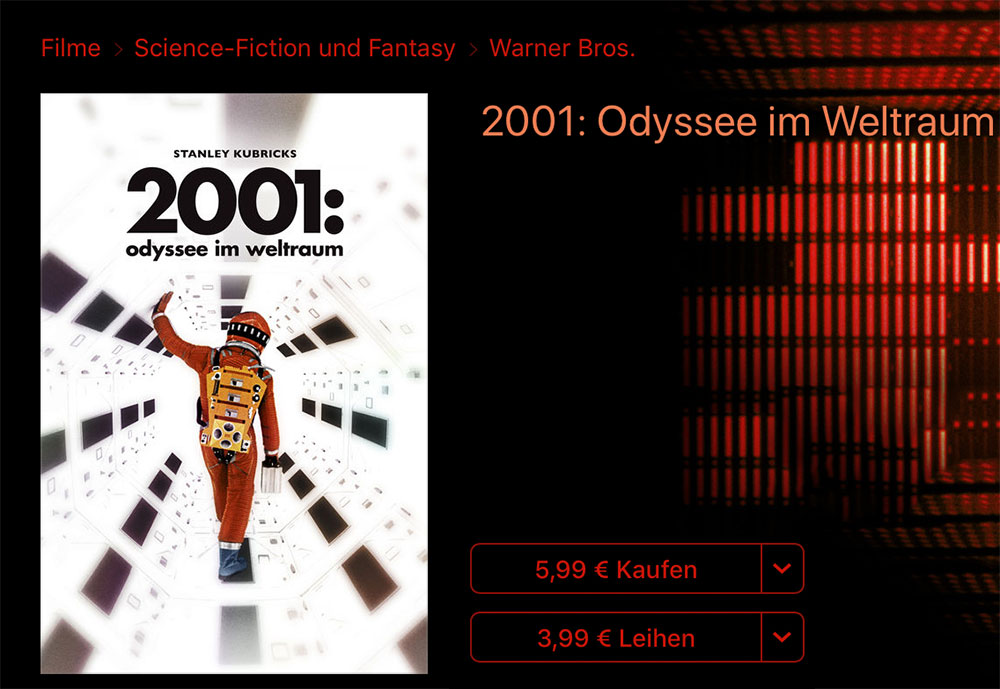 2001 Itunes Store Film Kauf