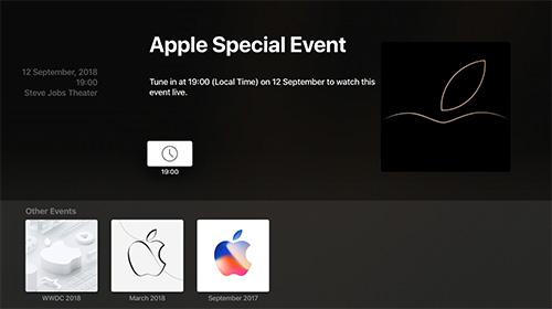Apple Events App Apple Tv