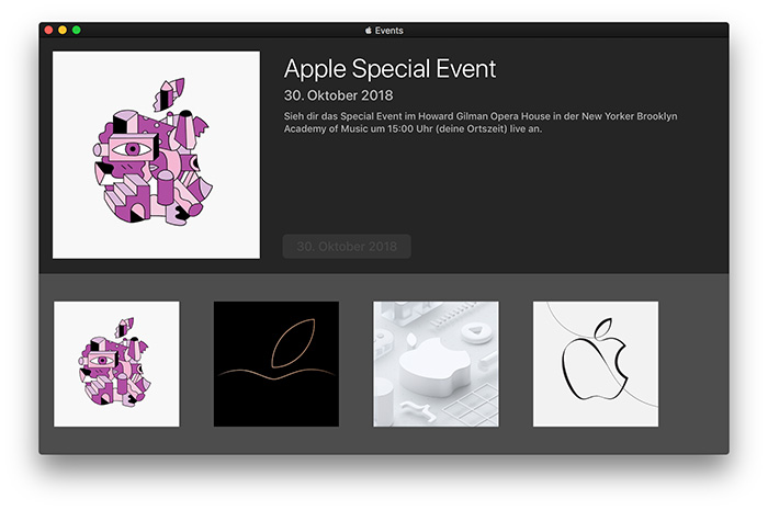 Apple Events App Mac