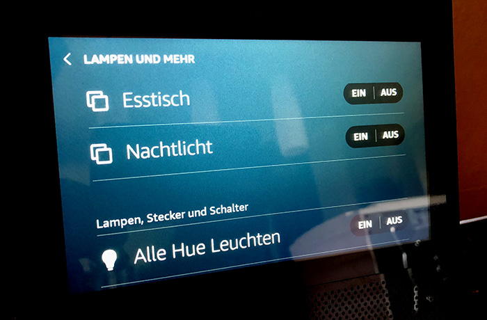 neue software echo show mit webbrowser und smarthome bersicht. Black Bedroom Furniture Sets. Home Design Ideas