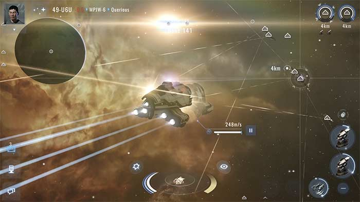 Eve Online Echoes Gameplay
