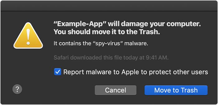 Gatekeeper Malware Warnung